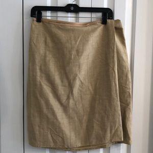 Armani collection size 10 silk blend wrap skirt